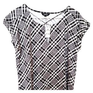 Express cross-front blouse
